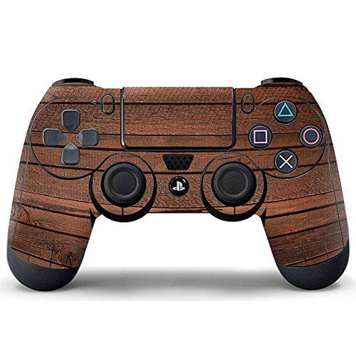 Pandaren® Aufkleber Faceplates Sticker Skin Haut für PS4 controller x 1 (dunklem Holz) -
