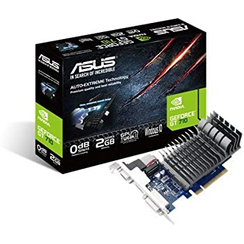 ASUS GT710-2-SL GeForce GT 710 Graphics Card with 0 dB Efficient Cooling - Black