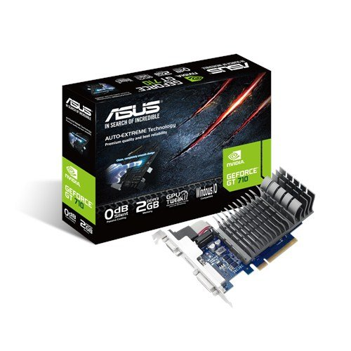 Asus Nvidia GeForce GT 710 2GB 64-Bit DDR3 PCI Express Graphic Cad with HDCP support, 192 Cuda Core and Direct X 12