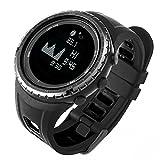 Docooler Multifunktions Sportuhr, Armbanduhr Mond-Diagramm Gezeiten-Daten Fischen-Uhr Höhenmesser-Barometer-Kompaß Wettervorhersage 5ATM Wasser-Beständiges