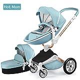 Silla de paseo Hot Mom 3 en 1 Reversibilidad rotación multifuncional de 360 grados con asiento y...
