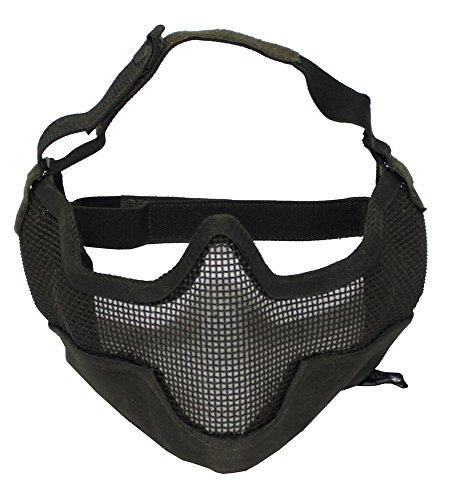 Gesichtsschutzmaske, Airsoft, oliv OLIV
