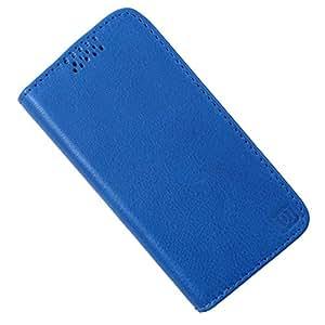 Dooda Genuine Leather Flip Case For LG Optimus L5II Dual (E455) / L5II ((E450) (BLUE)