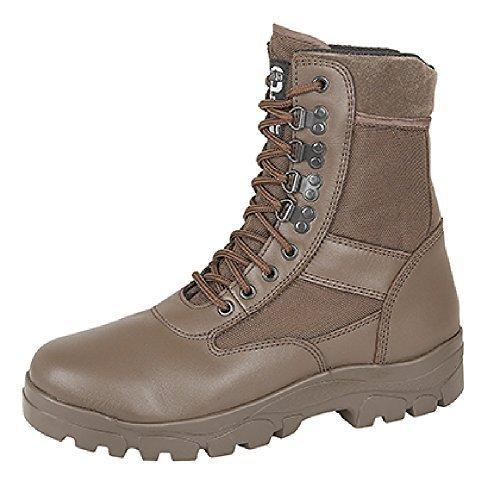 Grafters hohes Bein Kampfstiefel Mit Stahl Sohle Schutz Polizei Security Armee-kadett Sicherheitsstiefel - Braun, EU 46 (Kadett Schuhe)