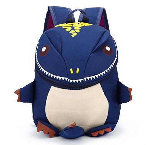 Zaino del sacchetto di viaggio di stile del mostro del fumetto dello zaino dei bambini Sky Blue