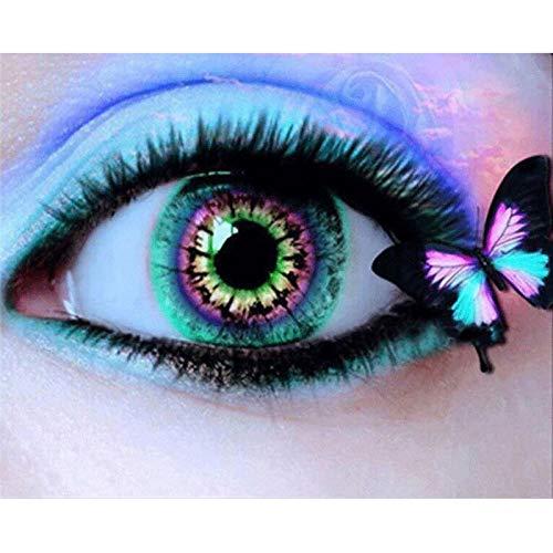 Monland Volle Quadratische Diamant 5D DIY Diamant Malerei Augen und Schmetterlinge Stickerei Kreuz Stich Strass Malerei Dekor
