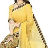 Pramukh saris Womens Georgette Printed S...