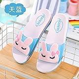 Casa de veraneo fankou zapatillas mujeres zapatillas cute antideslizante inicio interiores y exteriores baño de plástico y niños children's cool zapatillas, 37 [tamaño pequeño de dos yardas], azul
