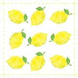 Paperproducts Design Design Fashion Lemon Allover Getränke Servietten, 12,7 x 12,7 cm gelb