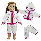 ZITA ELEMENT Puppenkleidung Bekleidung Set für 45-46cm Babypuppe und 18 zoll American Girl Doll Sport Kleidung Freizeit Puppe Kleider