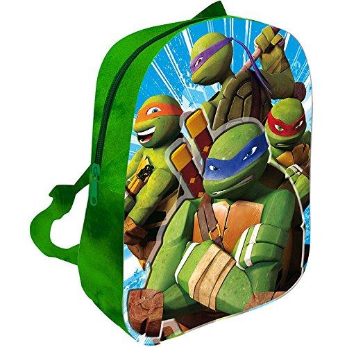 TMNT Turtles Backpack , Kindergarten Backpack , Free Time Backpack , 3D Relief Print,32cm - Ninja Turtles Kinderrucksack Rucksack, Kindergartenrucksack, Freizeitrucksack, 3D-Reliefdru