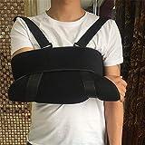 DYHQQ Armschlinge Schulter Wegfahrsperre- einstellbare Rotatorenmanschette und Ellenbogenstütze - für Männer und Frauen - passt für Linke und rechte Hand