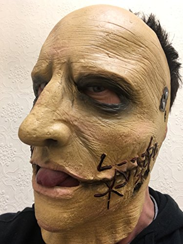 Rubber Johnnies TM Slipknot Latex Maske Corey Taylor Heavy Metal Band Tot Skin Gesicht Halloween Party ()