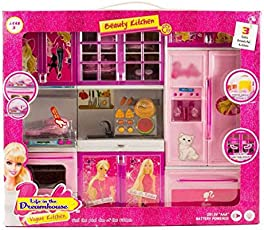 Kids Choice 3 Compartments Modern Kitchen Toy Set with Music and Lights
