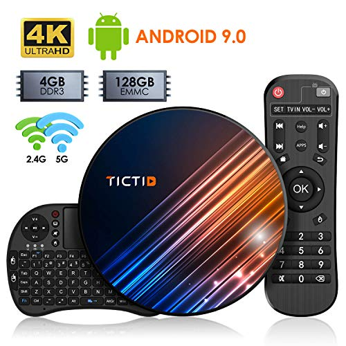 Android 9.0 TV Box 【4G+128G】con Mini Teclado inalámbirco