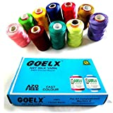 #5: Goelx Silk Thread 10 Spools Multicolour for Bangle-Jhumka-Jewellery Designing