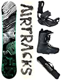 Airtracks SNOWBOARD SET - BOARD STEEZY WIDE 155 - SOFTBINDUNG MASTER - SOFTBOOTS SAVAGE BLACK 43 - SB BAG