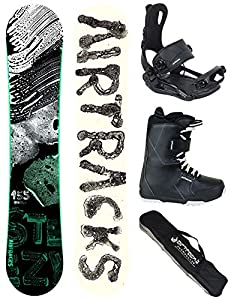 Airtracks SNOWBOARD SET - BOARD STEEZY WIDE 155 - SOFTBINDUNG MASTER -...