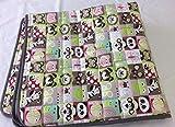 Krabbeldecke gesteppt - Babysteppz - (XXL 160 x 140 x 1,5 cm, Tiere Patchwork/Grau - personalisierbar mit farbigem Einfassband