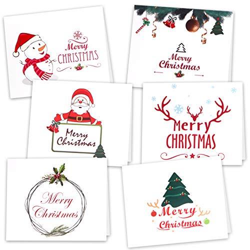 4. KUUQA - Tarjetas de Navidad con pegatinas