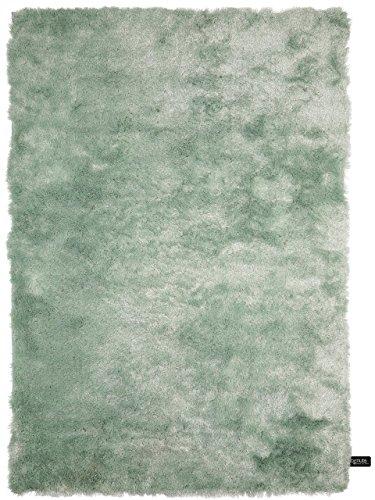 benuta Shaggy Whisper Rug Turquoise 140x200 cm (4ft7