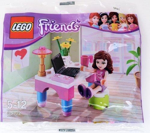 LEGO 30102Friends Figur Olivia mit Schreibtisch (Exklusive) (Lego Laptop)