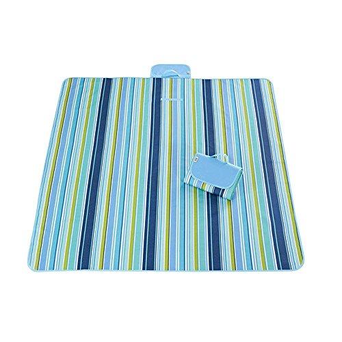 Outdoor & Picknickdecke Extra Große Sand Beweis und Wasserdichte Tragbare Strandmatte Für Camping Wandern Festivals 200 × 195 cm,Blue