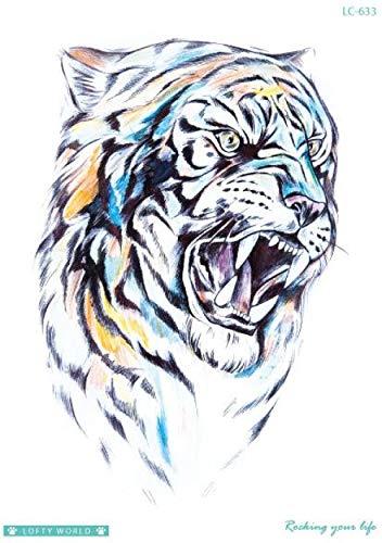 Kostüm Für Katze Wilde Erwachsene - Temporäre Tattoos Fake Tattoos Sticker Wilde Tiger Leopard Tattoos Flash Tattoos Große Größe Wasserdichte Tattoos Für Männer Frauen Mädchen