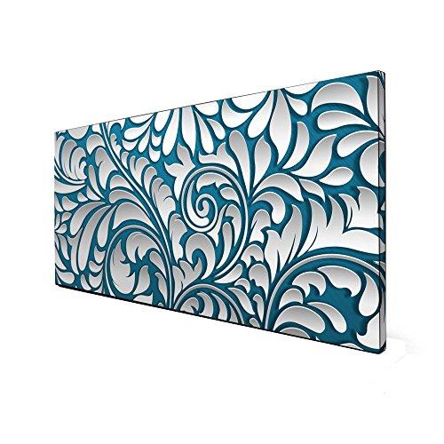 Schwarze Magnettafel von banjado | Design Memoboard 37x78cm | Metall Pinnwand mit Motiv Opulente...