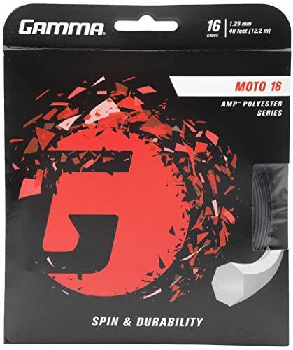 Gamma Tennis String Set 1.29mm, GZMO11, Schwarz