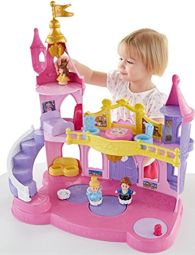 Image of Fisher-Price Toy Disney Princess Little People Musical Dancing Palace, Belle Cinderella Figure
