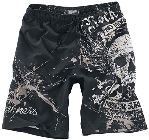 Rock Rebel by EMP Swimming Time Badeshort schwarz 4XL