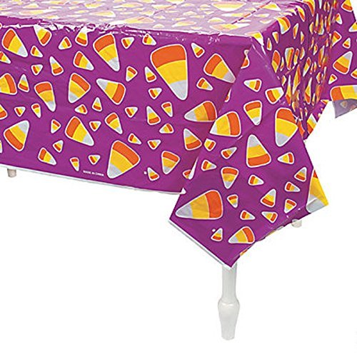 Halloween Fall Party Candy Corn Plastic Table Cover - 54 x 72 by Party Supplies