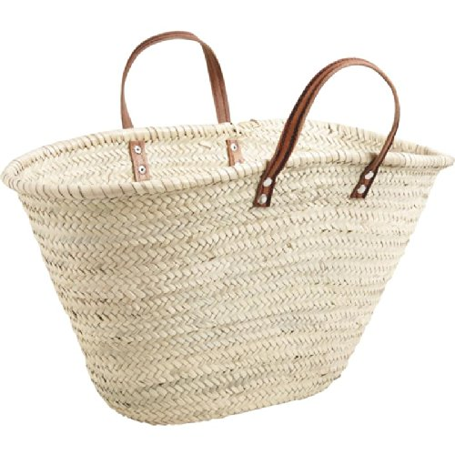 Hand Wattled Swim Beach Bag Shopping Basket Palm Fibre