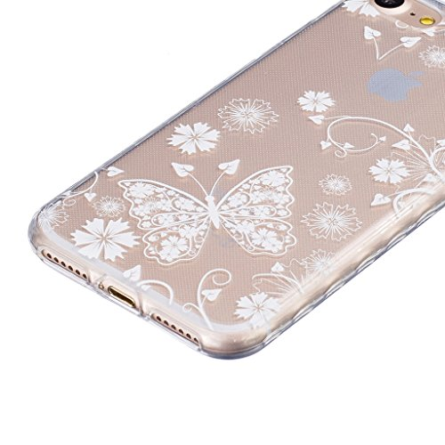 iPhone 7 Hülle,iPhone 7 (4,7 Zoll) Silikon Hülle,Mo-Beauty® iPhone 7 Klare Ultradünne Silikon Gel Schutzhülle Durchsichtig,Bunte Malerei Painted Muster Transparent TPU Sillikon Weich Ultra Thin Handyt T