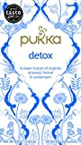 Pukka Organic Detox 20 Teabags (Pack of 4, Total 80 Teabags)