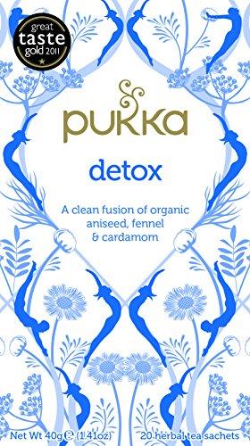 Pukka Detox, Organic Herbal Tea with Aniseed & Fennel (4 Pack, 80 Tea bags)