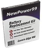 Kit di Ricambio di Batteria per Garmin Edge 500 GPS con Video di Installazione, Strumenti, e Batteria a lunga durata
