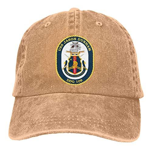 Preisvergleich Produktbild AllenPrint Baseballmütze, USS Jason Dunham DDG 109 Denim Papa Hüte verstellbare Baseballmütze