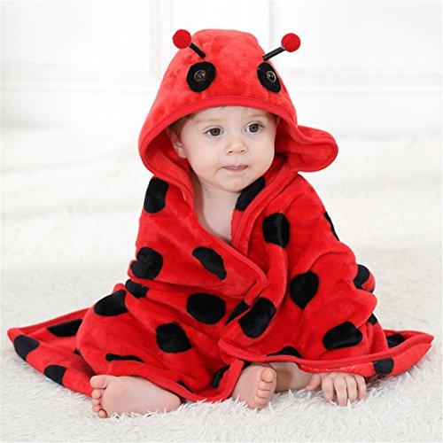 AKAUFENG Baby Kapuzenhandtuch Badetuch mit Kapuze Tier Käfer Design Dusche Bademantel Handtuch Decke