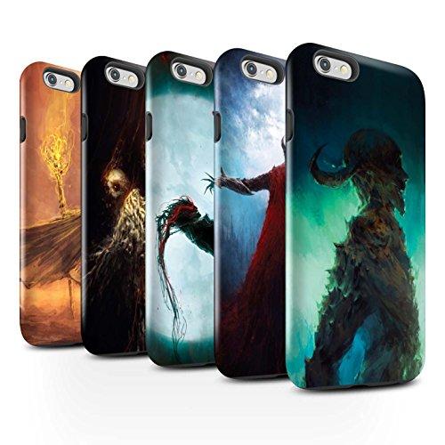 Offiziell Chris Cold Hülle / Glanz Harten Stoßfest Case für Apple iPhone 6+/Plus 5.5 / Gevatter Tod Muster / Dämonisches Tier Kollektion Pack 6pcs