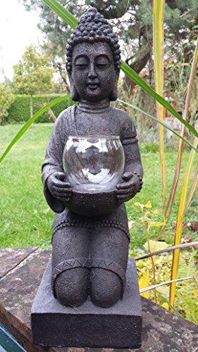 XL Sehr großer Budhha knieend mit Windlicht in den Händen