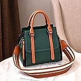 XMY Geformte Handtaschen Farbe Handtaschen wild Breiten Schultergurt große Kapazität einzelne Schulter Umhängetasche Eimer, grüner Boden