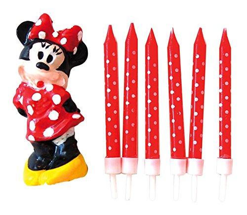 Minnie Mouse - Pack de 6 velas y 1 figura (Verbetena ...
