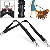 SlowTon Hunde leinen für 2 Hunde, Keine Verwicklung Doppelte Leine für Hunde Walking Training 360 ° Schwenkung Rotation Reflektierende Länge einstellbar Dual Two Dog Lead Splitter