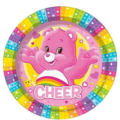 Mädchen Geburtstag Party Feiern Dekorationen Papier Geschirr Zubehör Retro 80er Niedlich Pflege Bären Rainbow Funshine Harmony Cheer Sharebear (Platten)