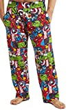 Marvel Pijama Hombre, Pantalones Largos de Pijama para Hombres Avengers, con Iron Man Capitan America Hulk y Thor, Ropa de Dormir 100% Algodon, Regalos Originales para Hombres