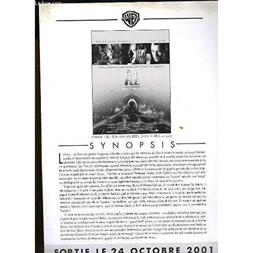 Brochure de presse du film ' A.I. Intelligence Artificielle ' avec Haley Joel Osment et Jude Law.