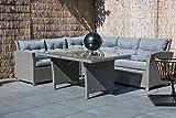 Lesli Living Hohe Dinning Poly Rattan Lounge Tango Stone Links, Aluminium, 41467
