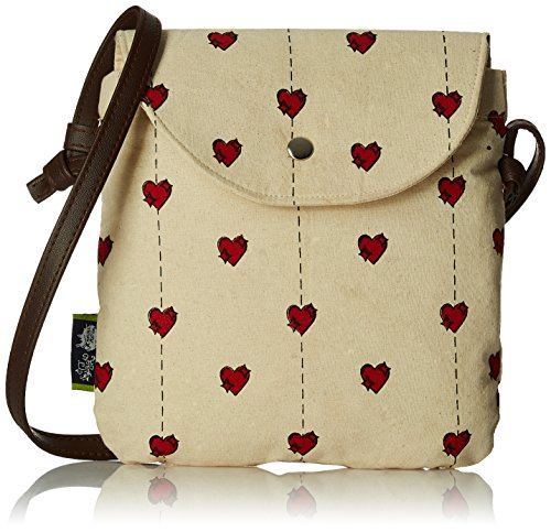 Kanvas Katha Women\'s Handbag (Ecru) (KKSNPB003)